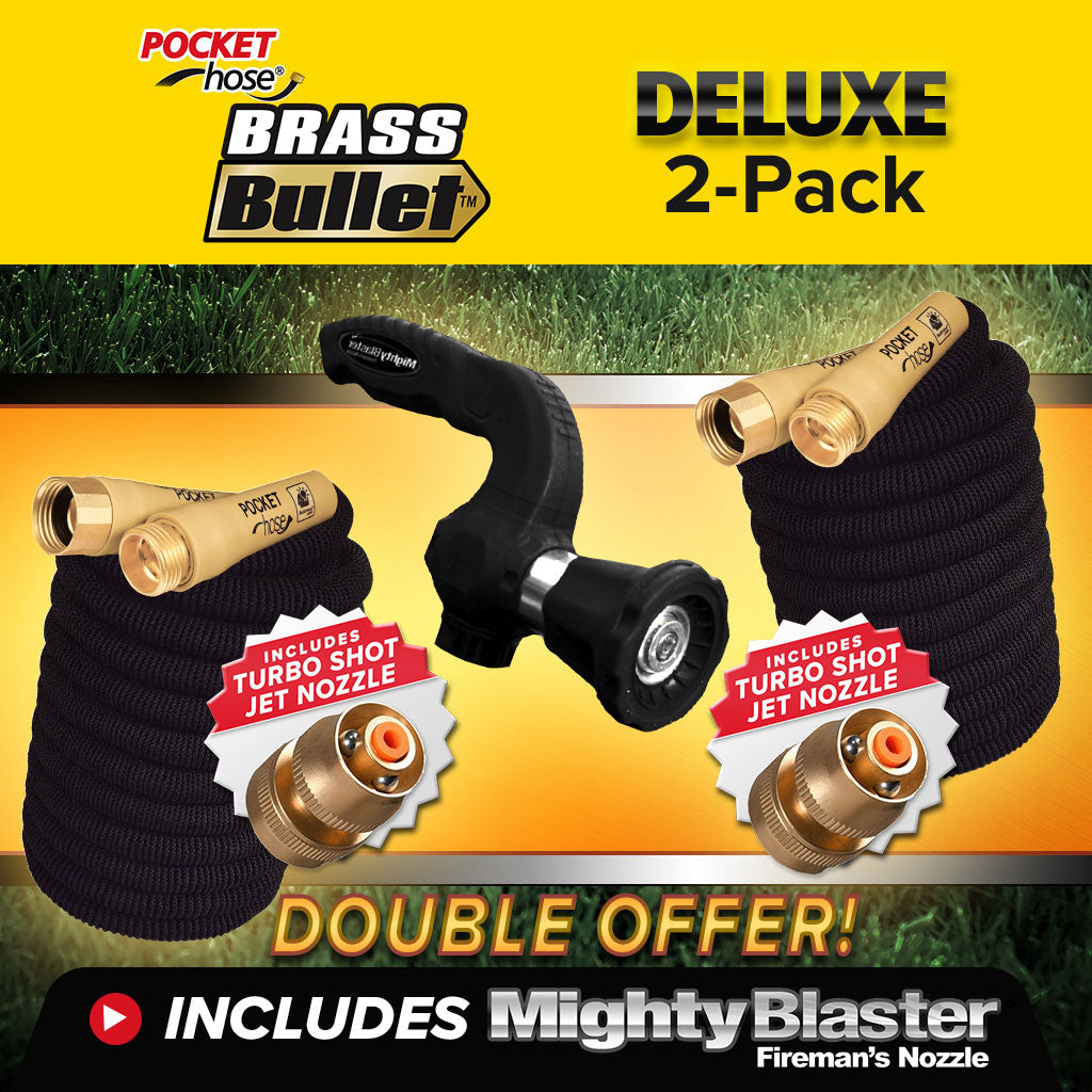 Deluxe Pocket Hose Brass Bullet 2-Pack