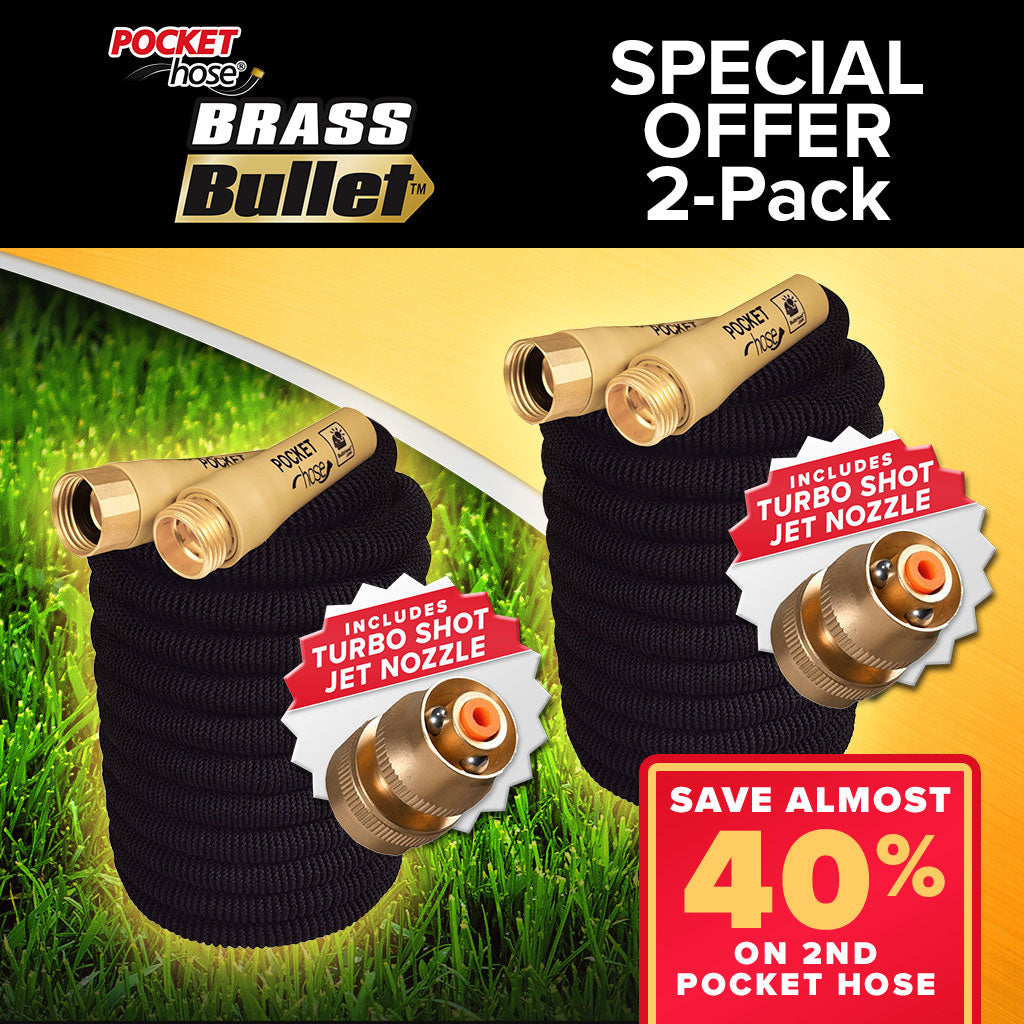 Pocket Hose Brass Bullet 2-Pack