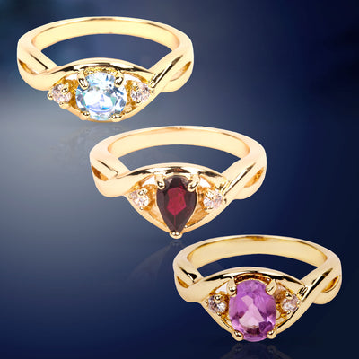 Brilliant Genuine Gemstone Ring Collection