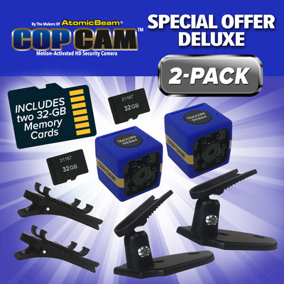 Deluxe Cop Cam by Atomic Beam 2-Pack