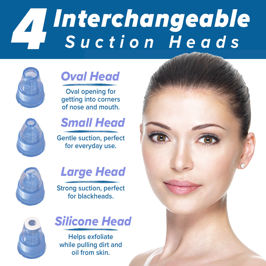 Four suction heads, oval head, large head, small head and sonic head