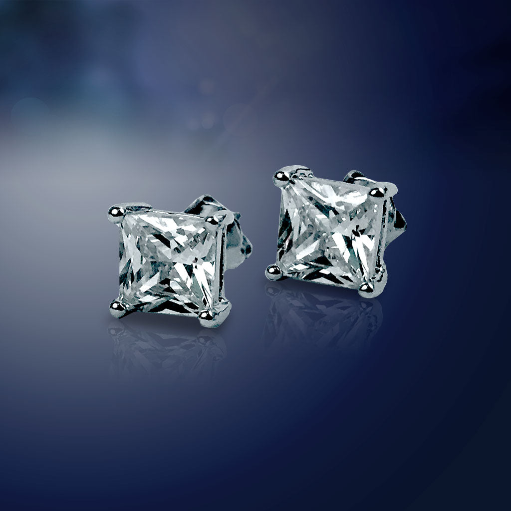 Diamond-Z4 Stud Earrings