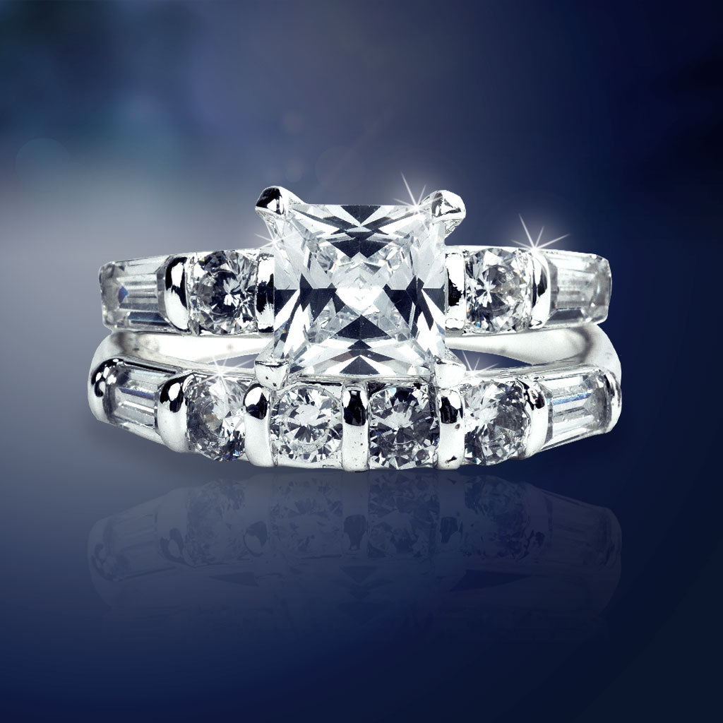 Diamond-Z4 Engagement & Wedding Ring Set