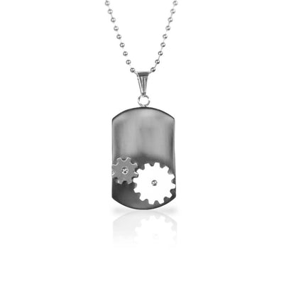 Stainless Steel Dog Tag Men's Necklace