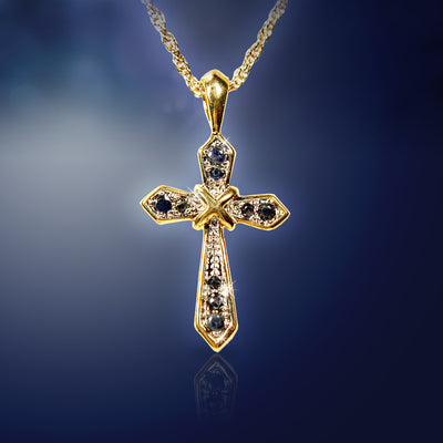 Goldtone Cross Necklace