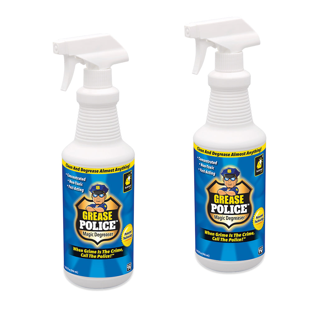 Grease Police 2-PK + Deluxe Hurricane Windshield Wizard