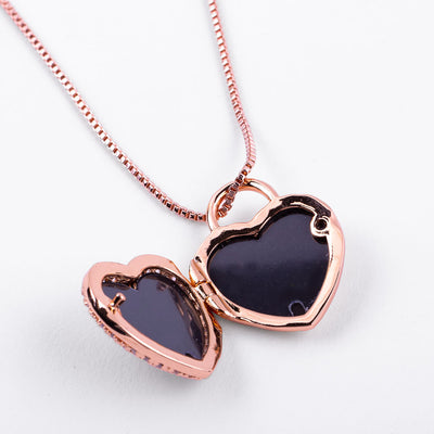 Heart Lock Locket Necklace