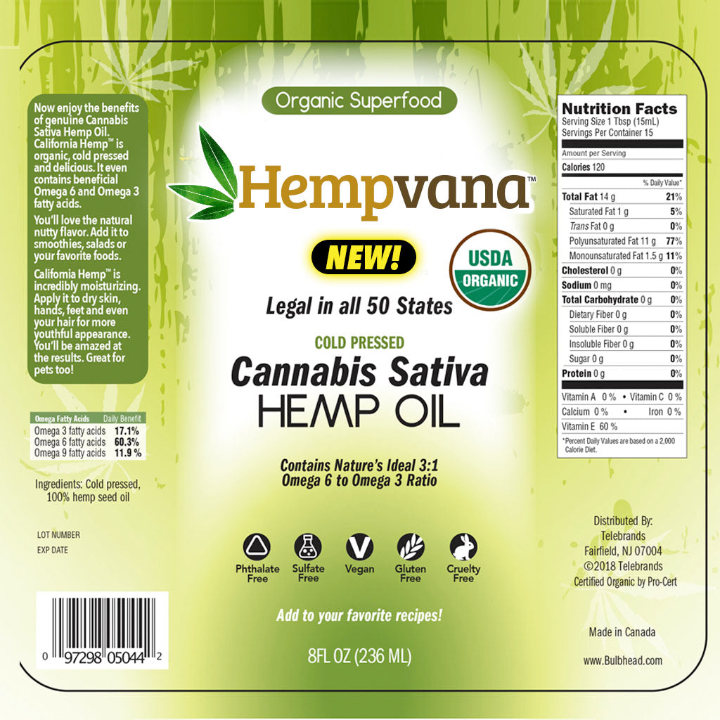 Hempvana Hemp Oil