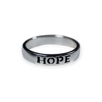 """Hope"" Sterling Silver Ring"