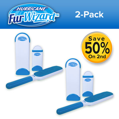 Hurricane Fur Wizard Lint Brush 2-Pack