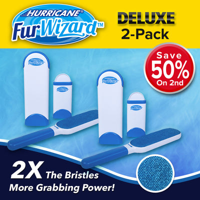 Deluxe Hurricane Fur Wizard Lint Brush 2-Pack