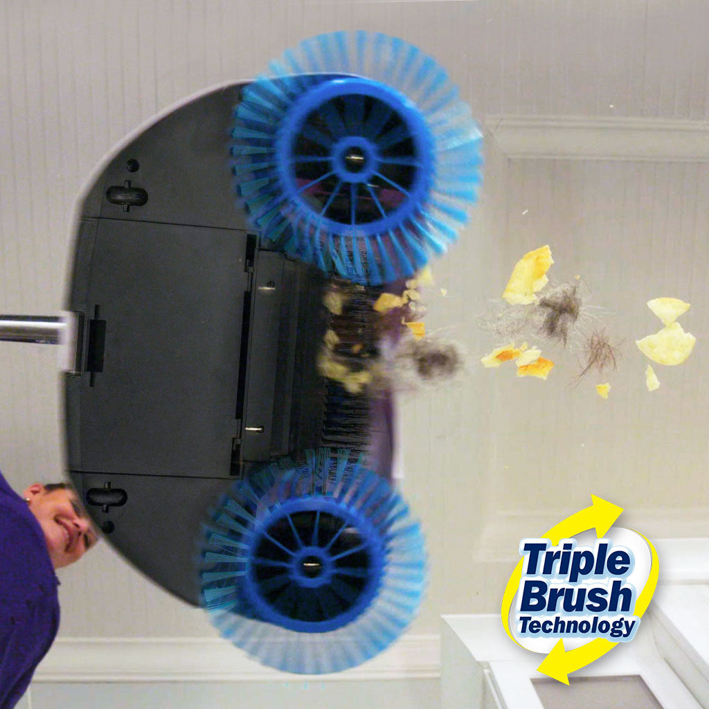 Hurricane Spin Duster and Spin Broom Special Offer, spin broom in use bottom view