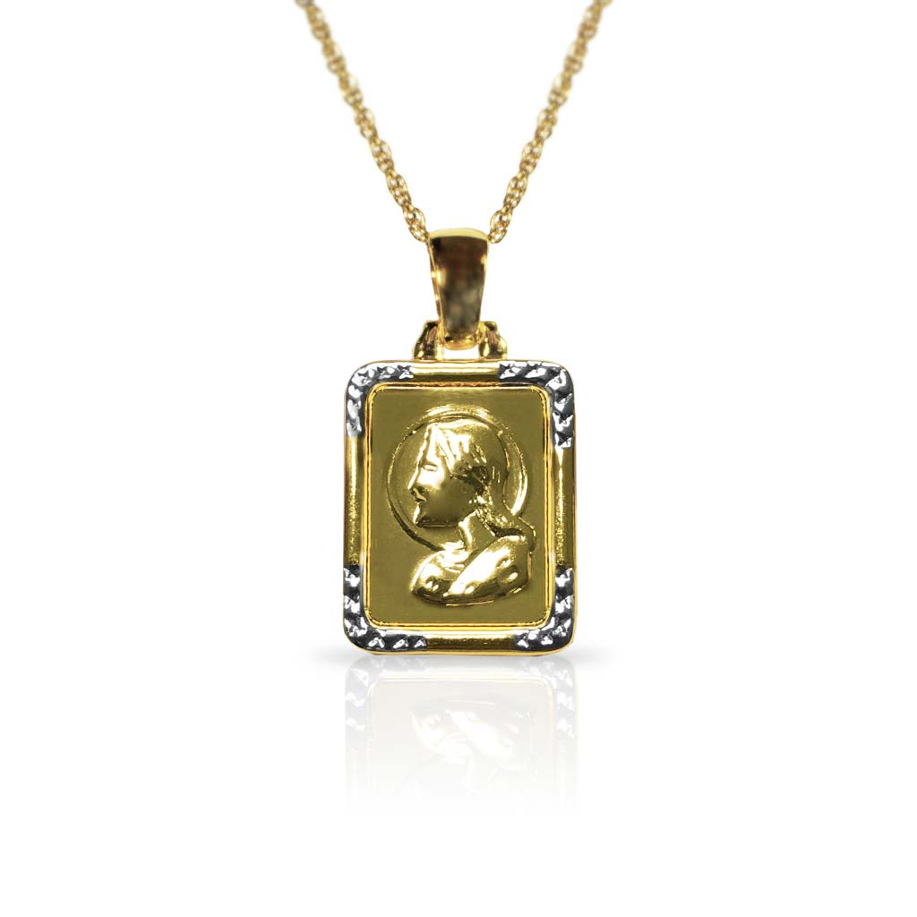 Goldtone Lord's Prayer Pendant Necklace
