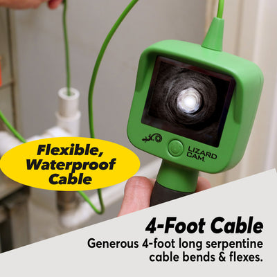 LIzard Cam, 4foot flexible waterproof cable