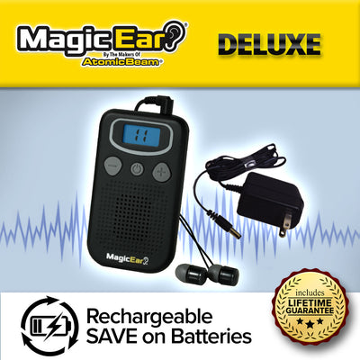 Deluxe Magic Ear, rechargeable, save on batteries