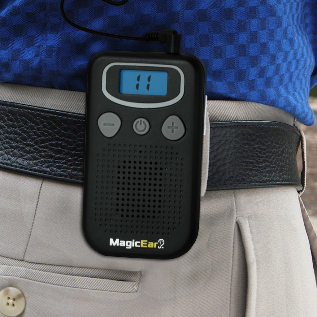 Magic Ear 2-Pack clipped on man's belt