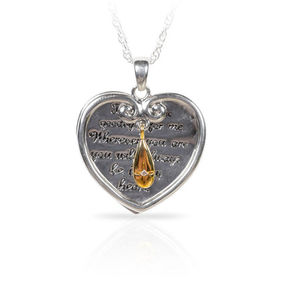 No Goodbyes Heart Pendant Necklace