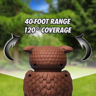 The back of Owl Alert with 40-foot range