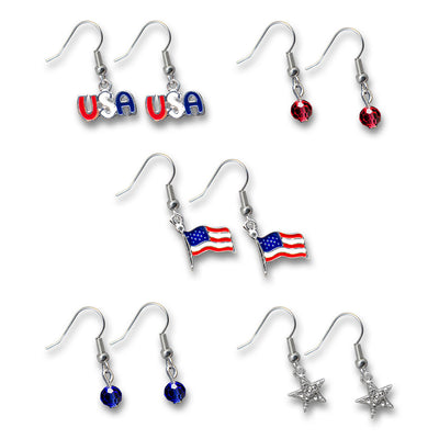 Patriotic Earrings Set