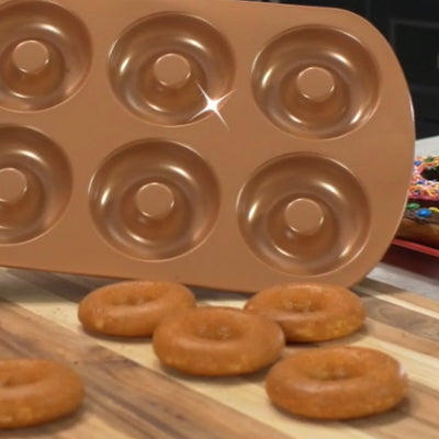 Red Copper Donut Pan