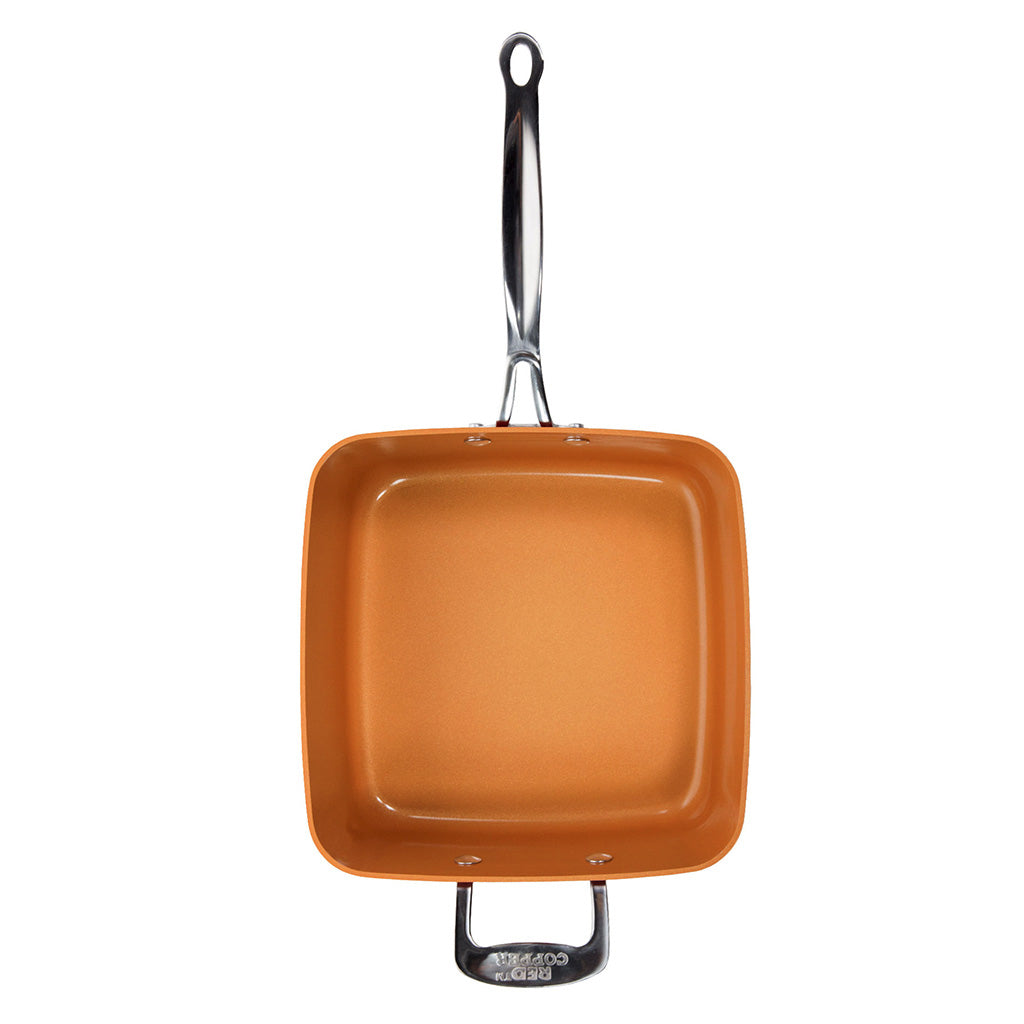 Red Copper Square Pan 5 Piece Set