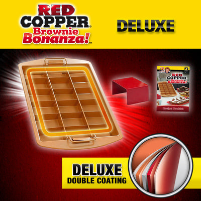 Deluxe Red Copper Brownie Bonanza Pan