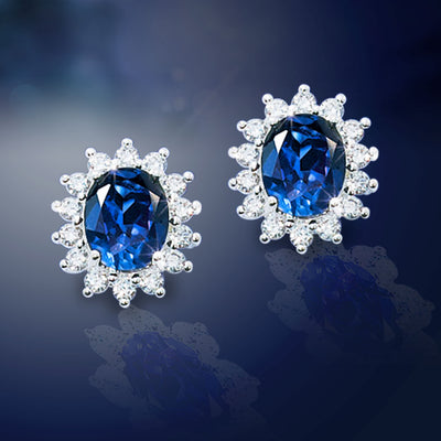 Royal Heirloom Sapphire Earrings