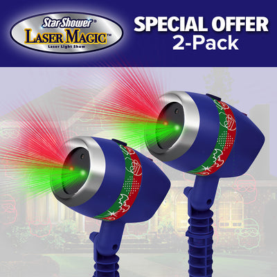 Star Shower Laser Magic 2-Pack