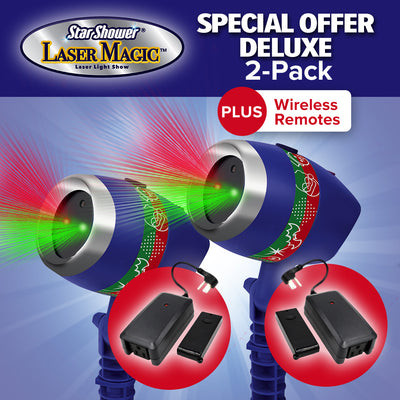 Deluxe Star Shower Laser Magic 2-Pack