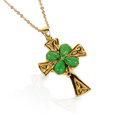 Shamrock Cross Necklace