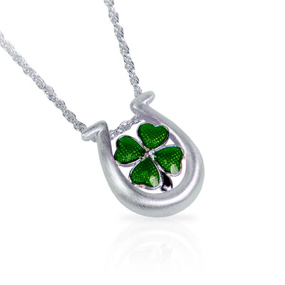 Shamrock Horseshoe Necklace