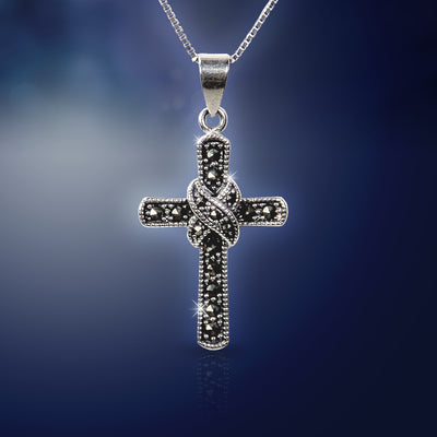 Antique Silver Cross Necklace