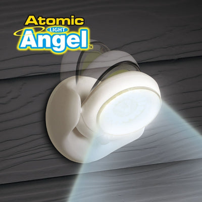 Atomic Angel Motion Activated Cordless LED Light in use on a wall image from BulbHead