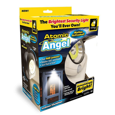 Atomic Angel Motion Activated Cordless LED Light packaging silo image from BulbHead