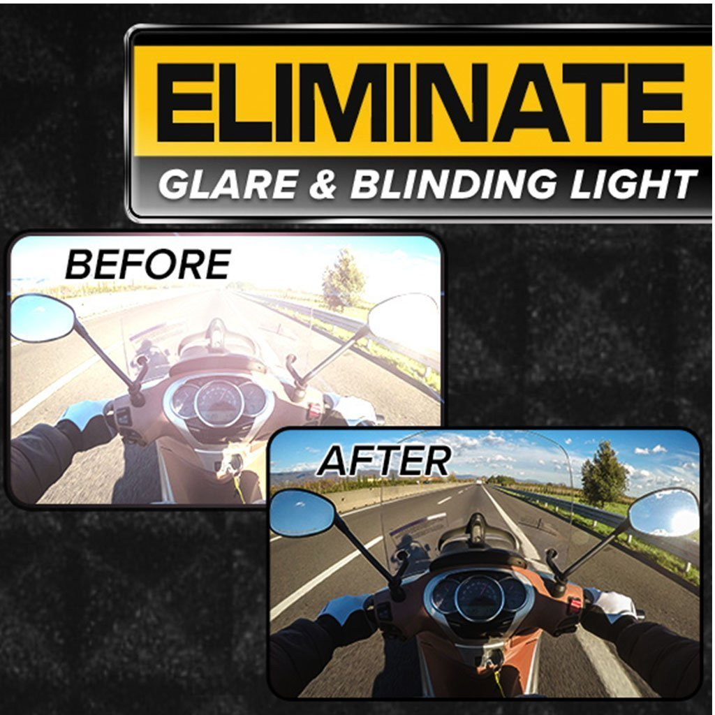 Battle Vision Polarized Sunglasses 2-Pack eliminate glare and blinding light before and after images