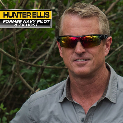 Battle Vision Polarized Sunglasses 2-Pack Hunter Ellis wearing the sunglasses