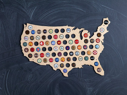 Beer Cap Trap Map Of Usa