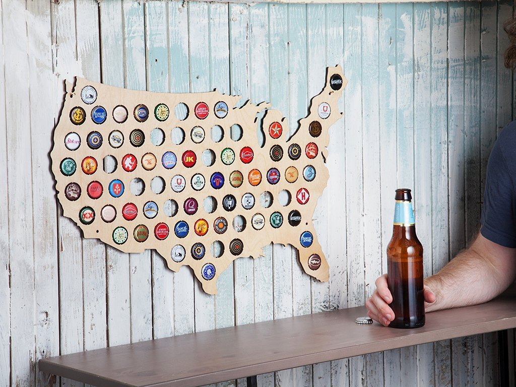Beer Cap Trap Map of USA image from BulbHead