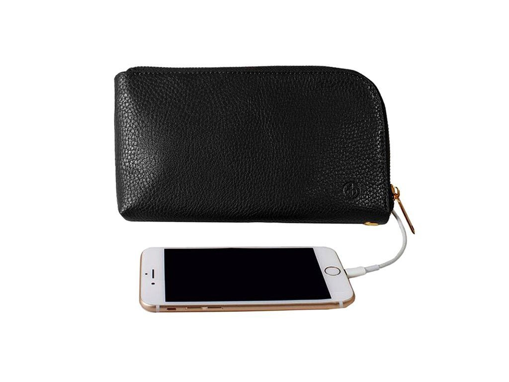 BLACK Chic Buds Phone Charging Clutch image from BulbHead