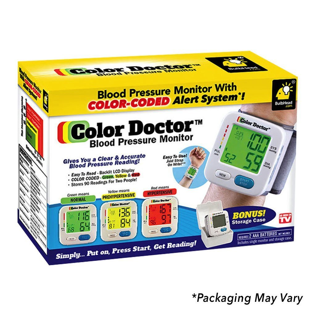 Color Doctor Blood Pressure Monitor packaging silo image from BulbHead