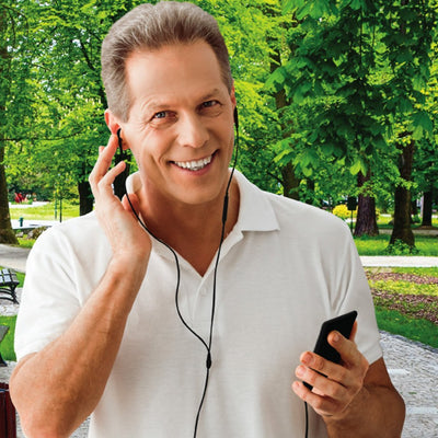 Deluxe Magic Ear 2-Pack in use by man walking in a park