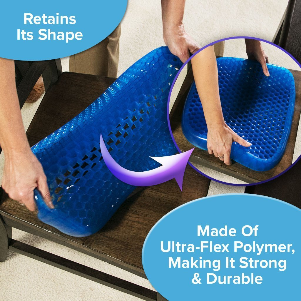 Deluxe Egg Sitter Support Cushion 2-Pack made of ultra-flex polymer, making it strong and durable