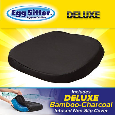 Deluxe Egg Sitter Support Cushion silo image includes bamboo-charcoal infused cover