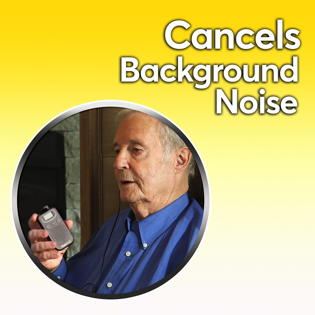 Deluxe Magic Ear cancels background noise