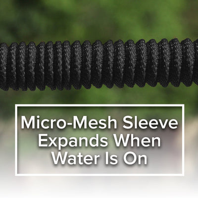 Deluxe Pocket Hose Brass Bullet showing close up of mirco-mesh sleeve