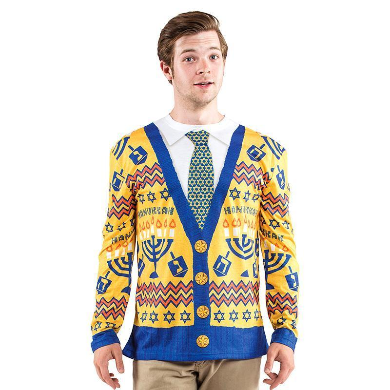 Faux Real Long Sleeved Ugly Hanukkah Sweater image from BulbHead