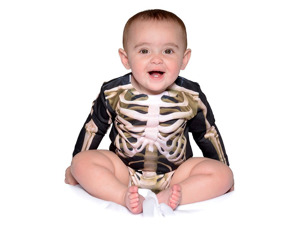 Faux Real Skeleton Infant Long Sleeve Onesie image from BulbHead