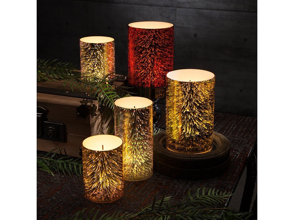 Gerson Glow Wick Galaxy Effect LED Candle 4x6 image from BulbHead