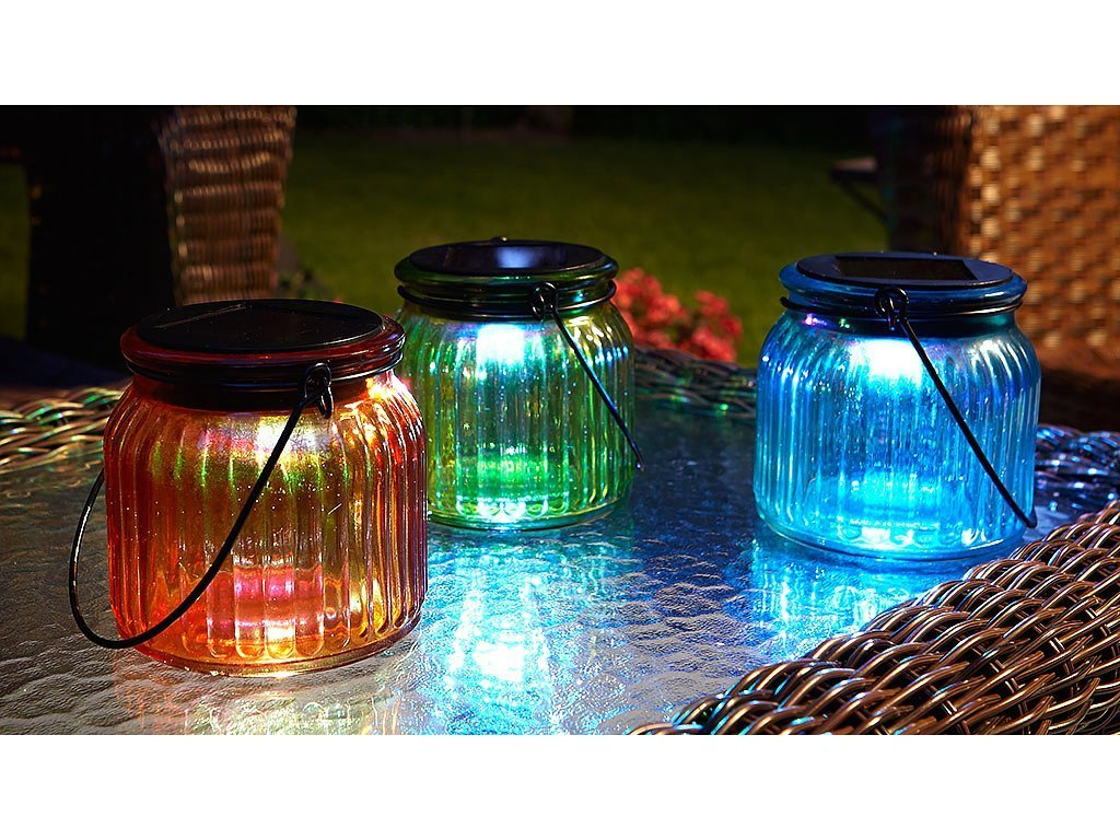 Hanging Solar Glass Jars - Set of 3 image from BulbHead