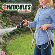 Hercules Hose lady watering flowers